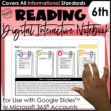 6th Grade Digital Interactive Notebook   Mentor Text Readi