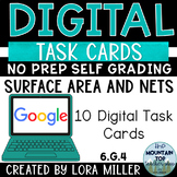 6th Grade Digital Task Cards--6.G.4--Surface Area and Nets