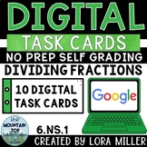 6th Grade Digital Task Cards--6.NS.1--Dividing Fractions