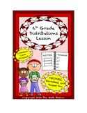 6th Grade Distributions Lesson: FOLDABLE & Homework