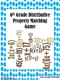 6th Grade Distributive Property Matching Game!