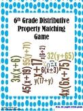 6th Grade Distributive Property Matching Game!