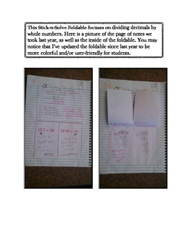 6th Grade Dividing Decimals by Whole Numbers Lesson: FOLDABLE & Homework