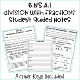 6th Grade Dividing Fractions Student Guided Notes & Practice