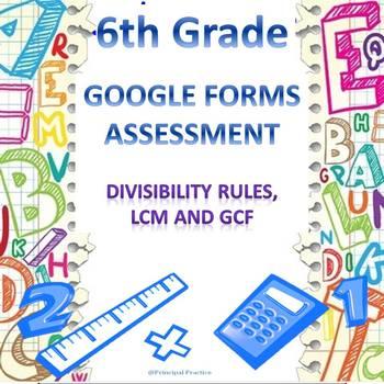 6th Grade Divisibility Rules, LCM, GCF Quick Check Google