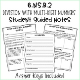 Division with Multi-Digit Numbers Guided Notes