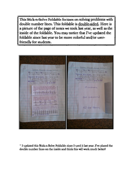 6th Grade Double Number Lines Lesson: FOLDABLE & Homework