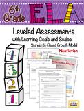 6th Grade ELA Assessment Reading Information 6.RI.1 Proficiency Scale - FREE