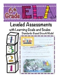 6th Grade ELA Assessment with Learning Goal 6.RL.1 and Sca