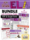 6th Grade ELA Bundle with Marzano Proficiency Scales - PDF & Google Forms