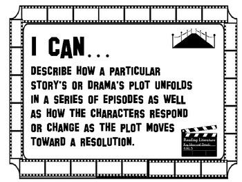 6th Grade ELA CCSS I can Posters (Hollywood Theme)
