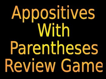 6th Grade ELA Common Core Parentheses with Appositives