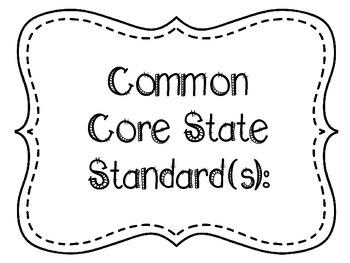 6th Grade ELA Common Core Posters - Black and White