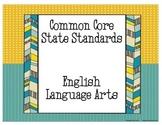 6th Grade ELA Common Core Standards