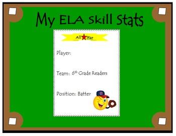 6th Grade ELA Common Core: Student Data Tracking Binder (All Standards)