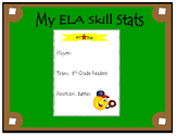 6th Grade ELA Common Core: Student Data Tracking Binder (A