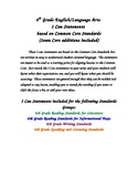 6th Grade ELA Common Core Student I Can Statements
