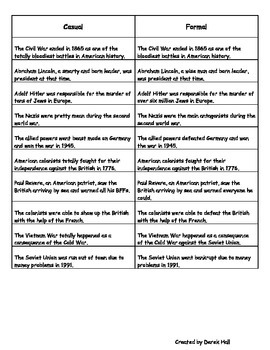 6th Grade ELA Common Core Style & Tone Worksheet