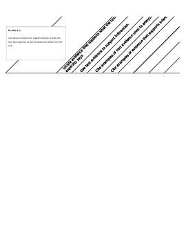 6th Grade ELA Data Tracking Form Standards-Based Checklist