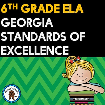 "6th Grade ELA Georgia Standards of Excellence Posters ""I CAN"" format"