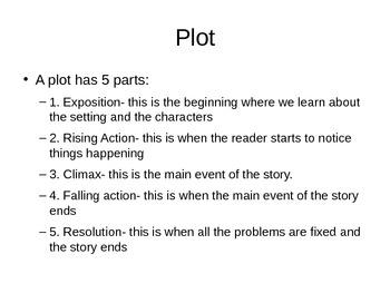 6th Grade ELA Interactive Notebook: Literary Terms