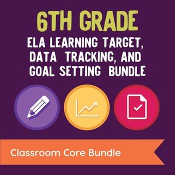 6th Grade ELA Learning Target, Data Tracking, & Goal Setti