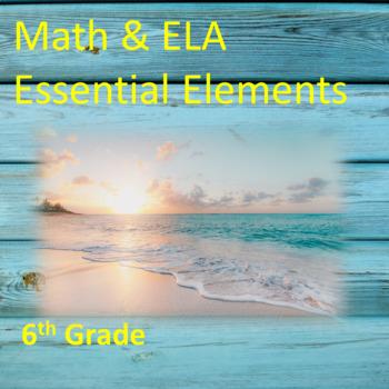 6th Grade ELA & Math Essential Elements for Cognitive Disa
