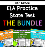 6th Grade ELA Practice State Test BUNDLE! - Distance Learning