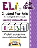 6th Grade ELA Student Portfolio Pages with Marzano Scales - FREE!