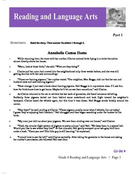 6th Grade ELA TCAP Practice Book