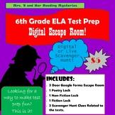 6th Grade ELA Test Prep Digital Escape Room
