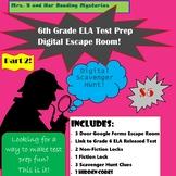 6th Grade ELA Test Prep Digital Escape Room Part 2!