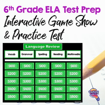 6th Grade ELA Test Prep Set Paired Reading Passages Game