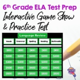 6th Grade ELA Test Prep Set: Paired Reading Passages, Game Show, & Practice Test
