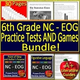6th Grade EOG Test Prep NC READY Bundle - Practice Tests AND Review Games