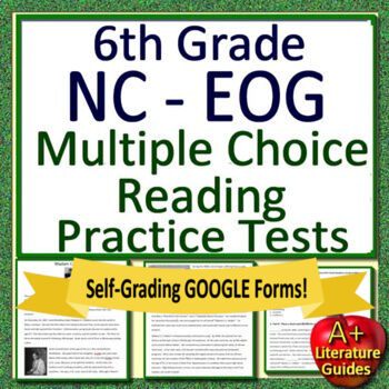 6th Grade NC EOG Test Prep Reading Assessments Collection NC Ready EOG