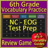 6th Grade EOG Test Prep NC READY ELA Reading Vocabulary Review Game