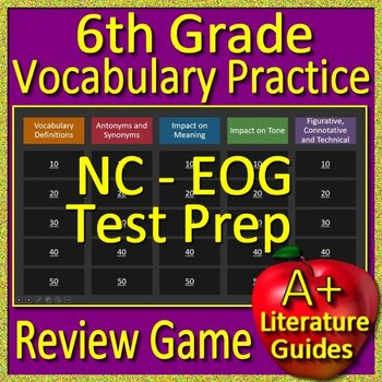 NC EOG Test Prep 6th Grade NC Reading EOG Vocabulary Review Game