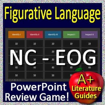 6th Grade EOG Test Prep NC READY Figurative Language Review Game