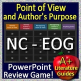 NC Reading EOG Test Prep 6th Grade Point of View AND Author's Purpose Game