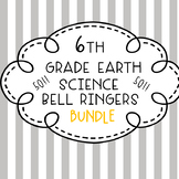 6th Grade Earth Science Bell Ringers/Warm-Ups - BUNDLE!