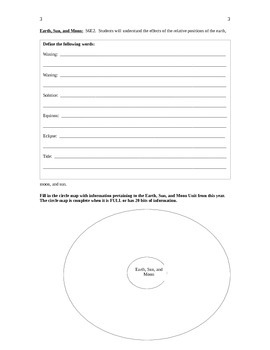 6th Grade Earth Science GA Milestones Review with Answers