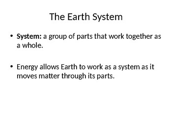 6th Grade Earth Science PowerPoint