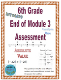 6th Grade End of Module 3 Assessment - SBAC - Editable