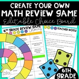 6th Grade End of Year Game Choice Board