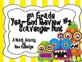 6th Grade End-of-the-Year Math Scavenger Hunt #2