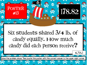 6th Grade End-of-the-Year Math Scavenger Hunt #3