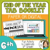 6th Grade End of the Year Memory Activity 2021 Print or Di