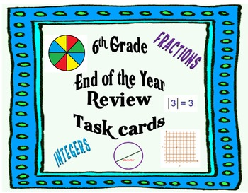 6th Grade Math End-of-the-Year Review Task Cards
