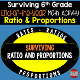 6th Grade End of the Year Math Day (Surviving Ratio and Proportions)